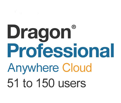 Nuance Dragon Professional Anywhere Cloud 51 to 150 Users - Speech Products