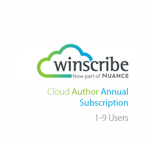 Nuance Winscribe Cloud Author Annual Subscription (1-9 Users) - Speech Products