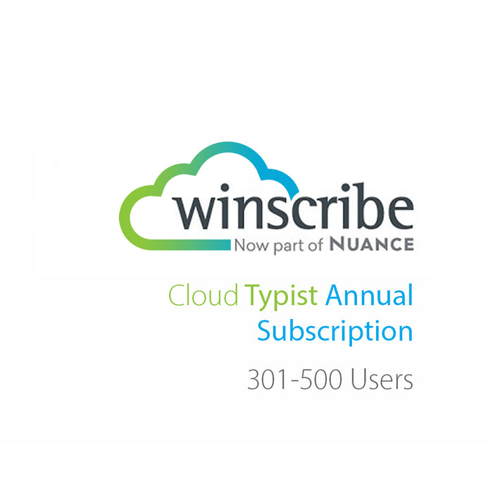 Nuance Winscribe Cloud Typist Annual Subscription (301-500 Users) - Speech Products