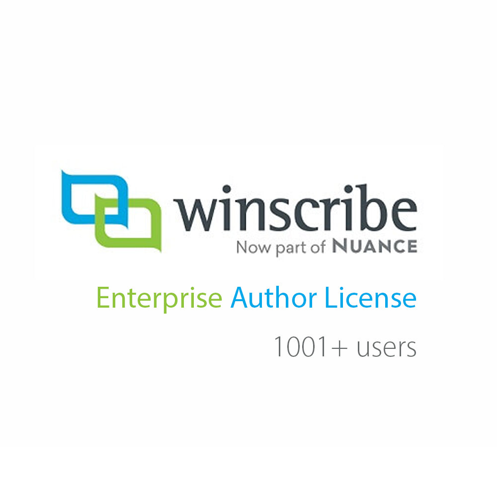 Nuance Winscribe Enterprise Author License (1001+ Users) - Speech Products