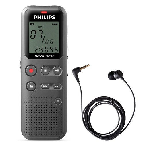 Philips DVT1110 Digital Voice Tracer with TP-8 Telephone Pickup - Speech Products