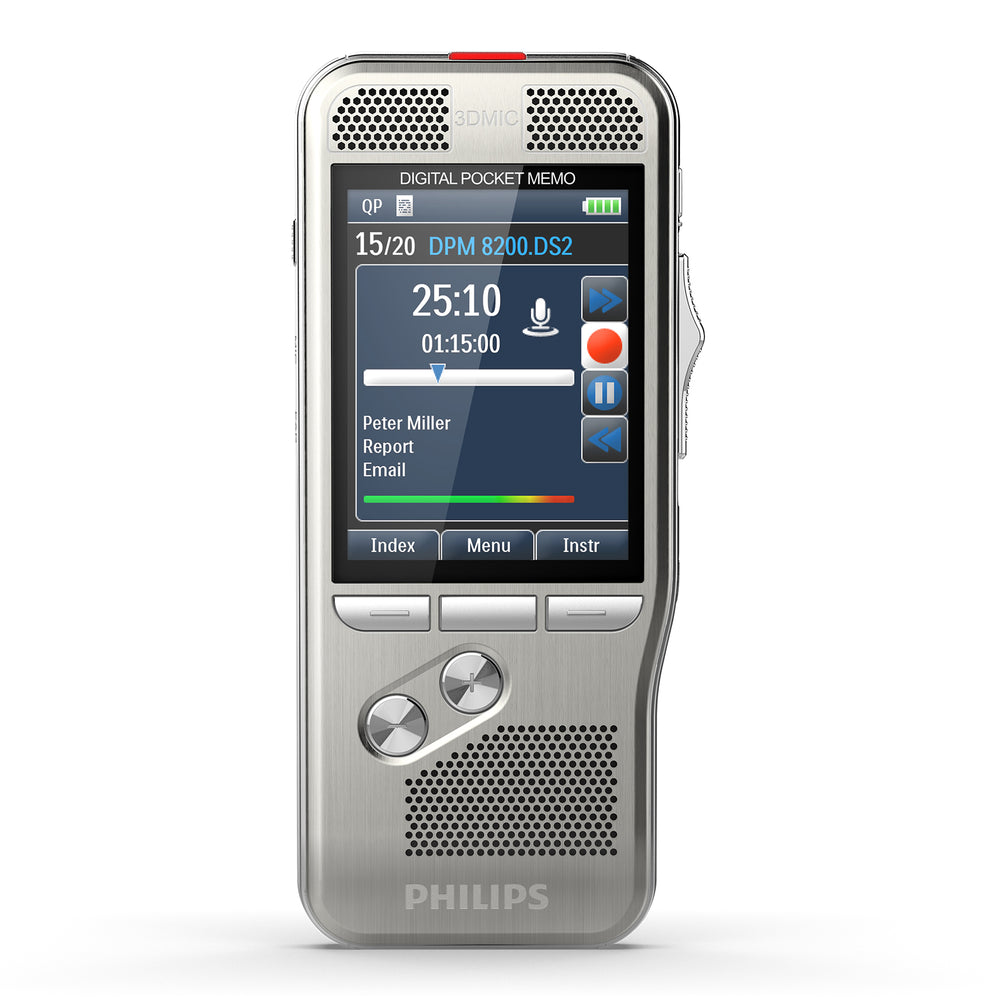 Philips DPM8500 Digital PocketMemo with Barcode Scanner - Speech Products