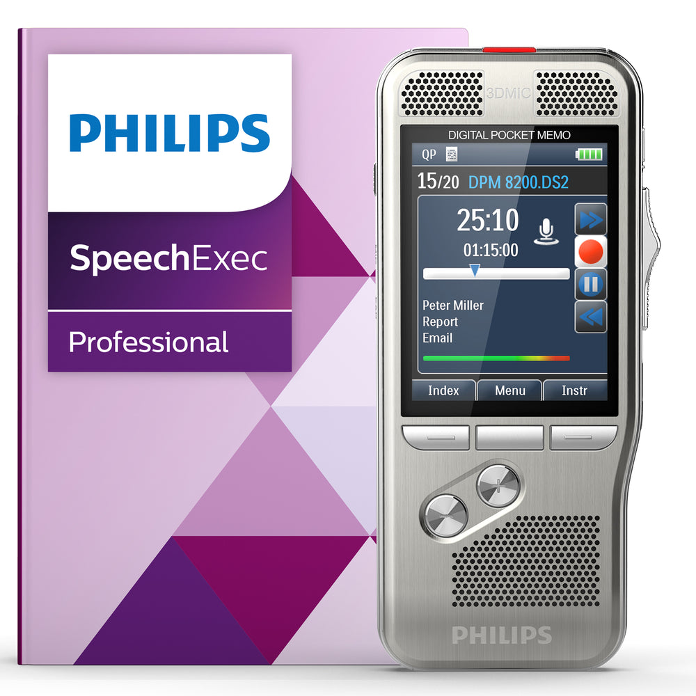 Philips PSE8200 Pocket Memo with Speech Recognition Set - Speech Products
