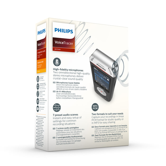 Philips DVT2110 VoiceTracer - Speech Products