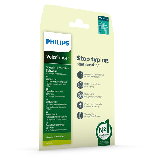 Philips DVT2805 VoiceTracer Speech Recognition Software - Speech Products