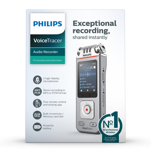 Philips DVT4110 VoiceTracer Lecture Recorder - Speech Products