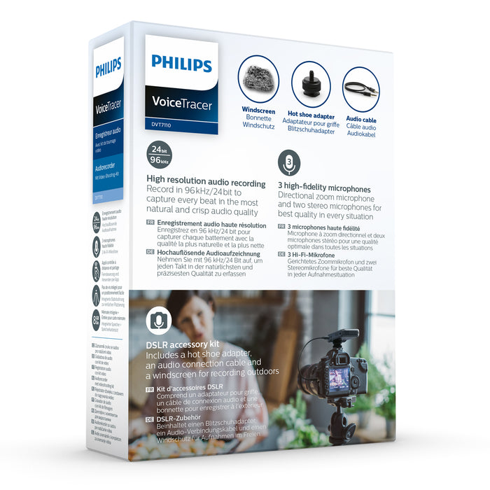 Philips DVT7110 VoiceTracer with Video Kit - Speech Products