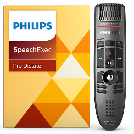 Philips LFH3500 SpeechMike Premium with SpeechExec Pro Dictate v10 Software - Speech Products