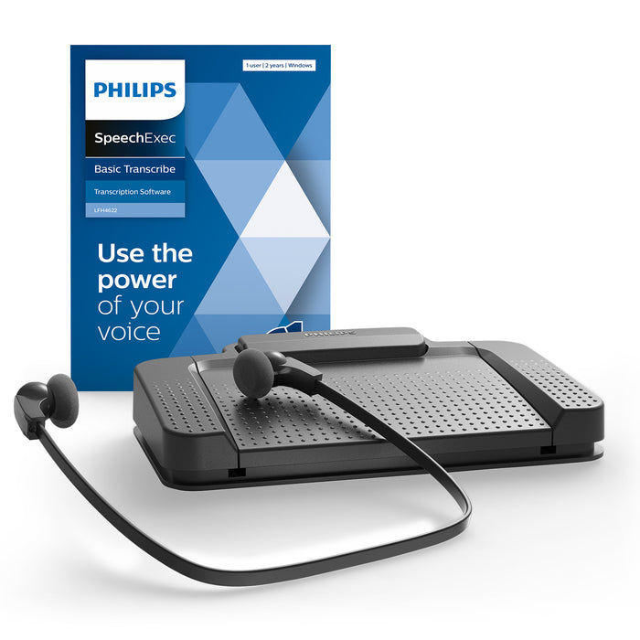 Philips LFH7177/06 Transcription Kit with SpeechExec Transcribe V11 - 2 Year License - Speech Products