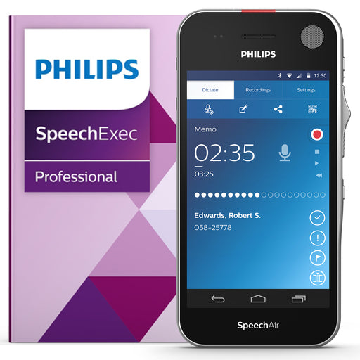 Philips SpeechAir Smart Voice Recorder (PSE1200) - Speech Products