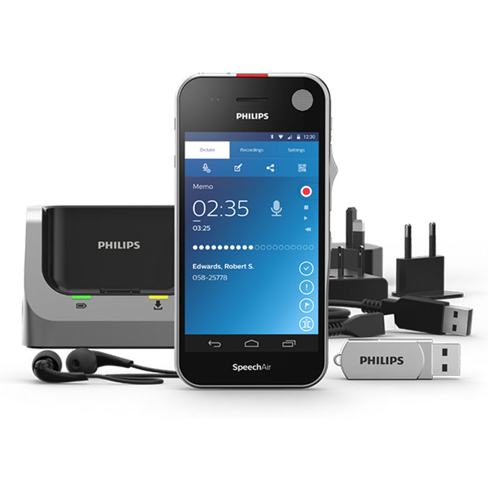 Philips SpeechAir Smart Voice Recorder with Dragon Pro 15 (PSP1200) - Speech Products