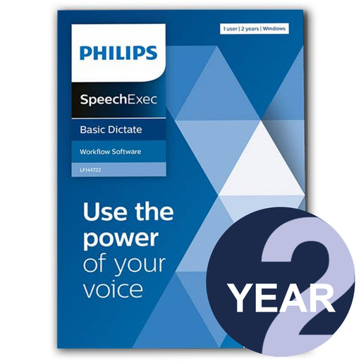 Philips LFH4722/00 SpeechExec Dictate Standard V11 Software 2 Year License - Boxed Product - Speech Products