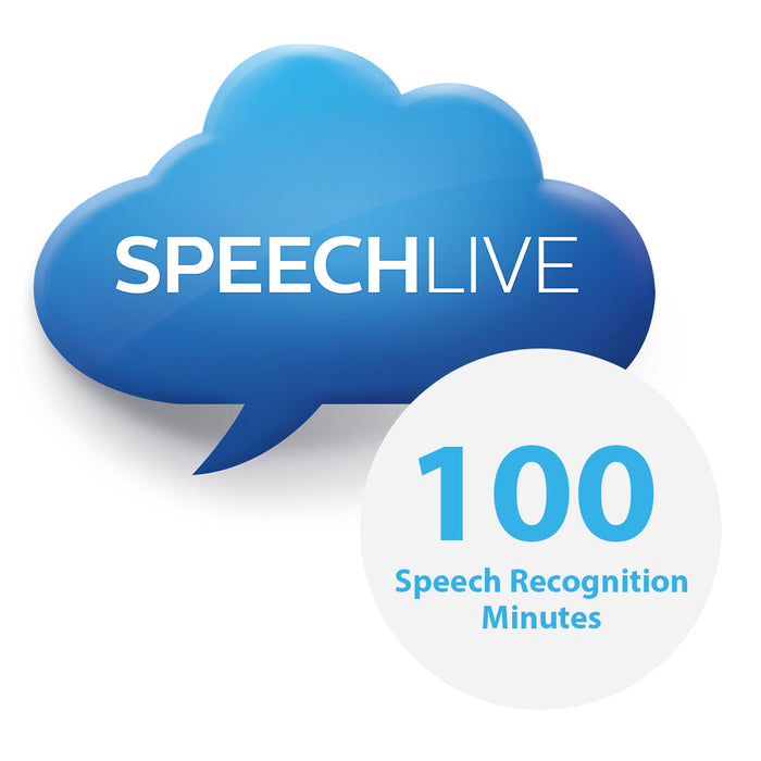 Philips PCL5000/00 100 SpeechLive Speech Recognition Minutes - Speech Products