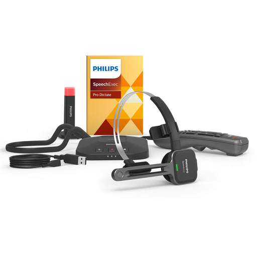Philips PSM6800 SpeechOne Headset with Remote Control & SpeechExec Pro Dictate v10 - Speech Products