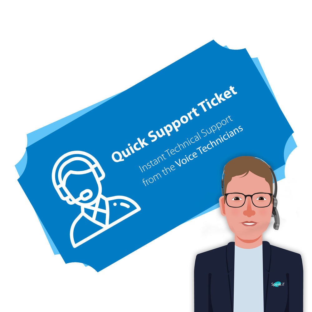Speak-IT Quick Support Ticket - Speech Products