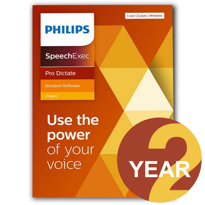 Philips LFH4422/00 SpeechExec Pro Dictate V11 Software 2 Year License - Boxed Product - Speech Products