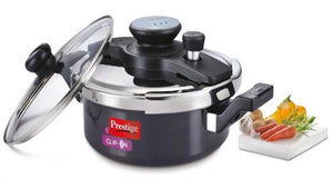 Clip on hard anodised 3 ltr pressure cooker Universal Lid along and glass lid with ladle holder  Item Code: 20325