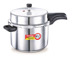 Stainless Steel Deluxe Pressure Cookers 8 Litre  Item Code: 20607