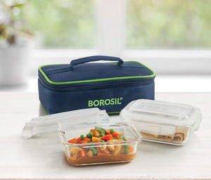2 Container Rectangular Lunch Box