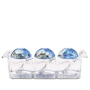 Freelance Eden Acrylic Kitchen & Dining, Condiment Jam Jar Set Dispenser Box Holder Keeper Case Dish with Lid & Spoon