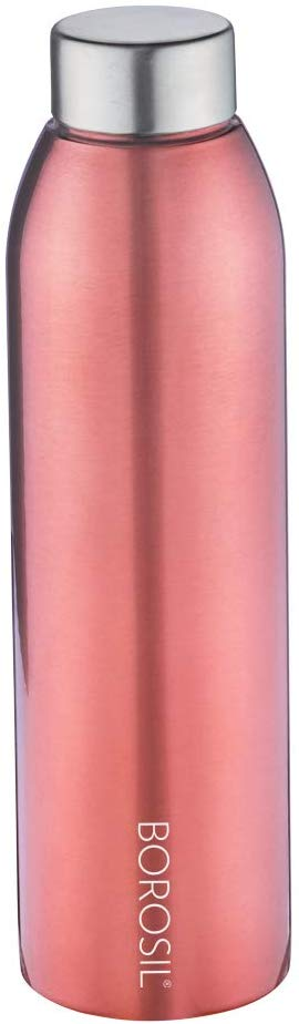 Borosil Stainless Steel Easy Sip Water Bottle for Fridge, 750ml,