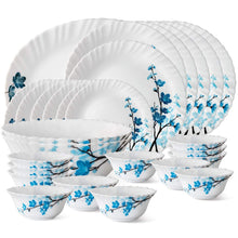 Load image into Gallery viewer, Larah By Borosil Mimosa Opalware Dinner Set, 27-Pieces, White