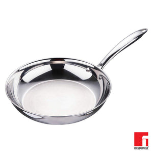 Bergner Argent Triply Stainless Steel Frypan 22 cm,Induction Base, Silver BG-9947