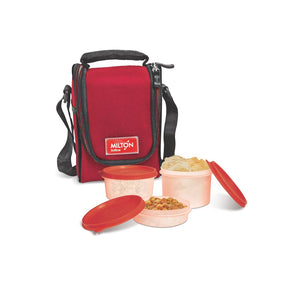 Milton lujoso Full Meal 3 Containers Lunch Box 3 Containers Lunch Box  (750 ml)