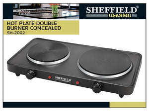 85166000-HOT PLATE DOUBLE BURNER CONCEALED SH-2002