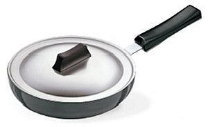 L09-HARD ANODISED FRYING PAN ROUNDED SIDES WITH LID