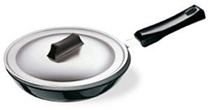 IL11-HARD ANODISED FRYING PANS WITH STAINLESS STEEL LID