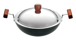 L19-DEEP-FRY PAN  WITH STAINLESS STEEL  LID