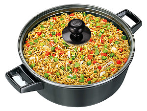 Q38- NONSTICK COOK N SERVE BOWL WITH GLASS LID