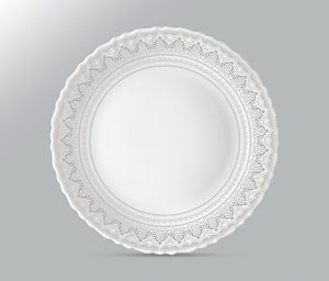 Larah by Borosil Classic Plate Set of 6 Piece Full Plate