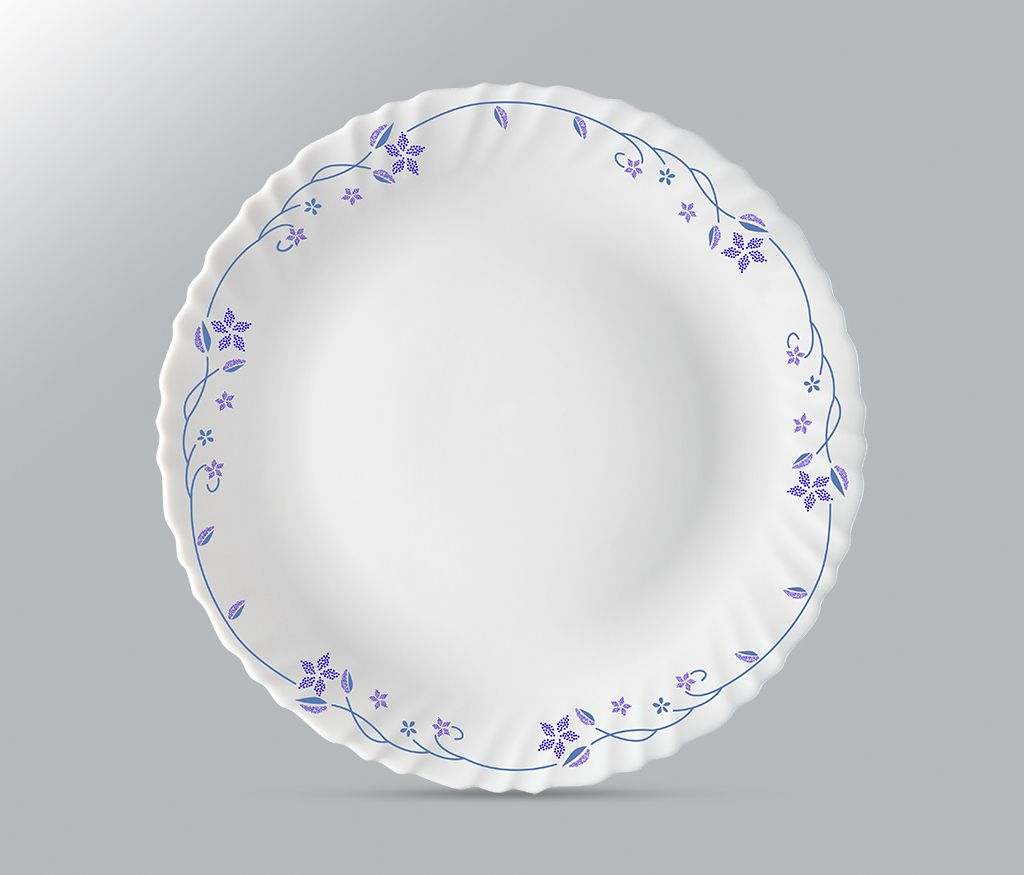Larah by borosil Flora Plate Set of 6 Piece Full Plate