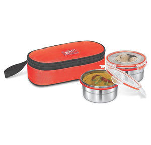 Milton Lunch Box Stainless Steel Workplace Meal 2 Small Container