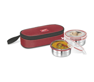 Milton Steel Meal Air Tight 2 Container Lunch Box