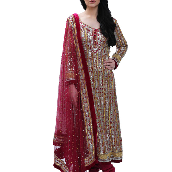 Ganga Jamna Gota Long Kurta with Dupatta