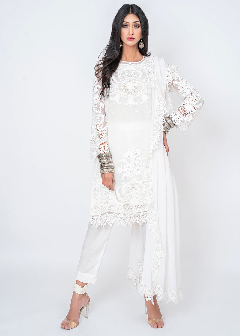 Decora White Kurta