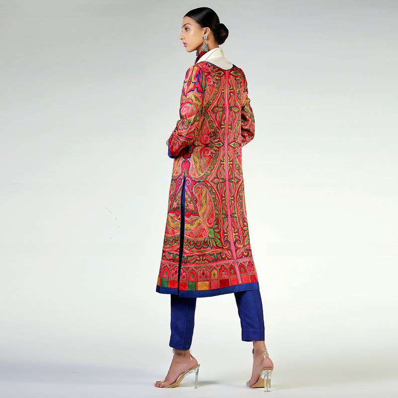 Kashmiri Shawl Inspired Long Resham Coat