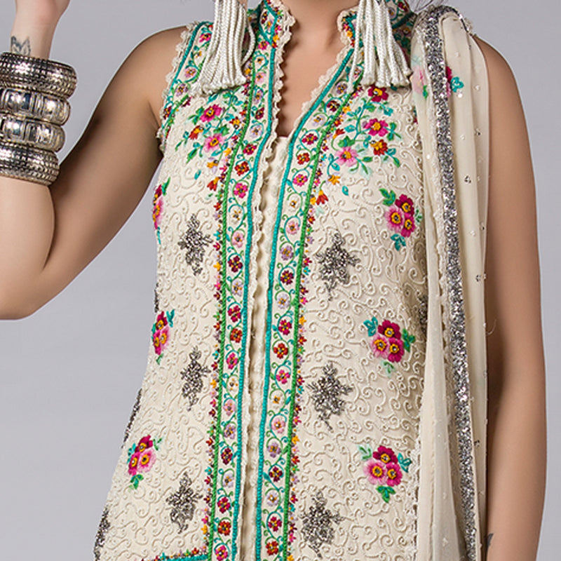 Embroidered Sleeveless Shirt