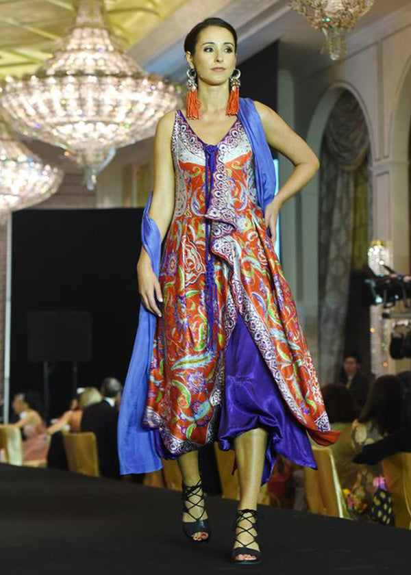Multi Colour Asymmetrical Dress