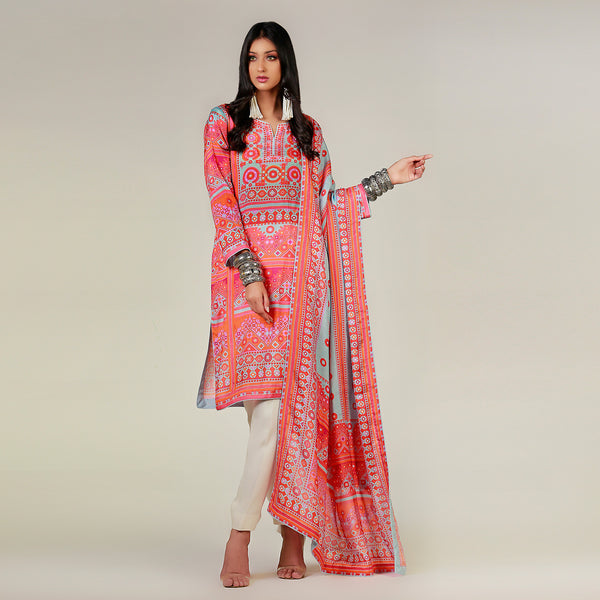 Baluchi Sheesha Light Blue Kurta