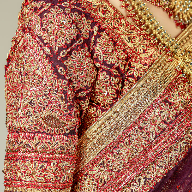 Deep Purple Marori Saree