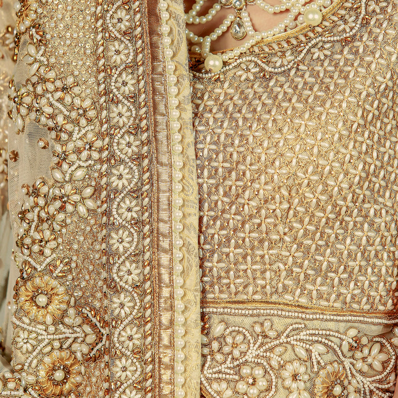 Signature Gold Lehenga Choli Bridal