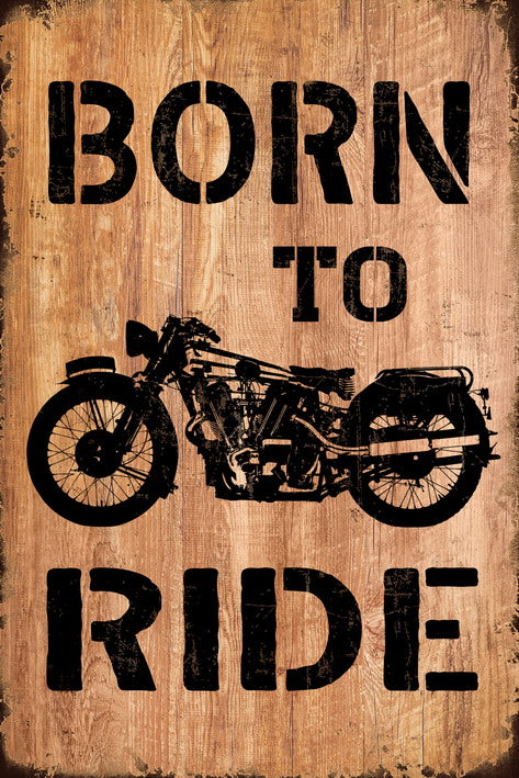 BORN TO RIDE WALL ART