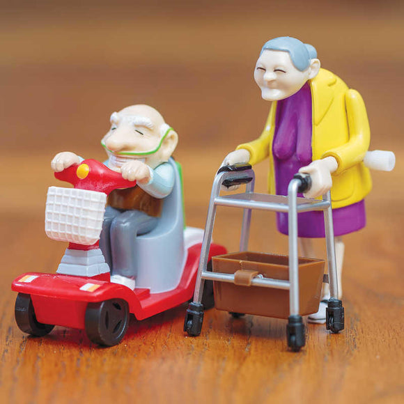 WIND UP RACING GRANNY & GRANDAD