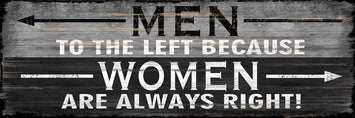 WOMAN ALWAYS RIGHT WALL ART