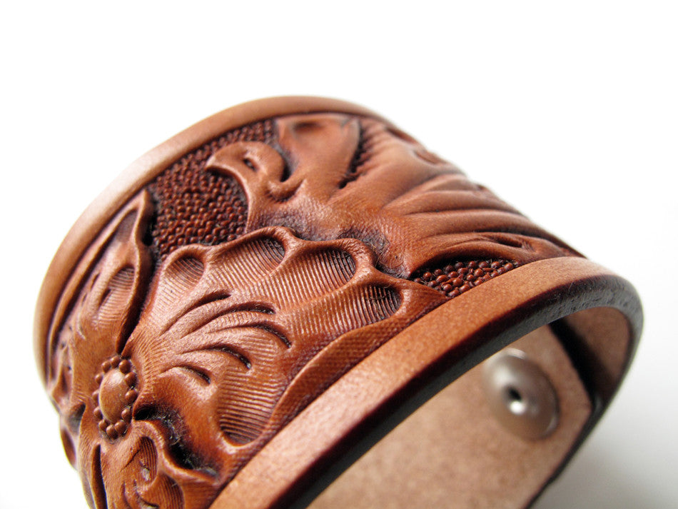 image from Hard Carved Wild Rose Cuff
