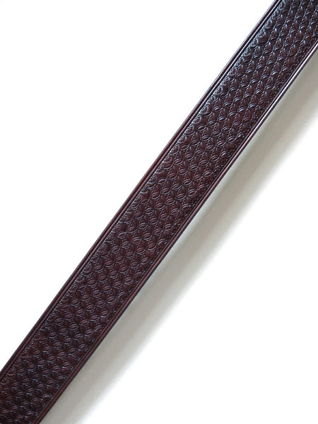 Box Stamped Leather Guitar Strap